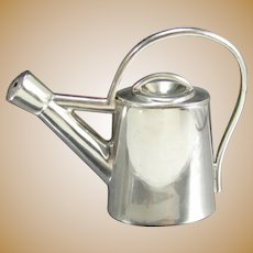 Vintage MAYOR'S Sterling Miniature WATERING CAN 925 Silver Garden Signed
