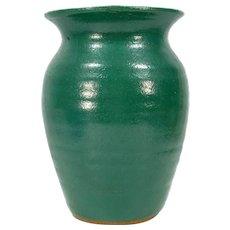 Vintage 1989 Steve Turpin Studio Art Pottery Vase N. Georgia Green Glaze