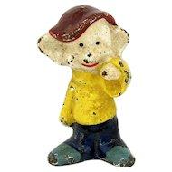 Vintage Dopey Dwarf Paperweight Cast Iron Figural Statue