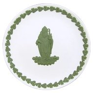 Vintage WEDGWOOD St. Patrick Plate Green on White
