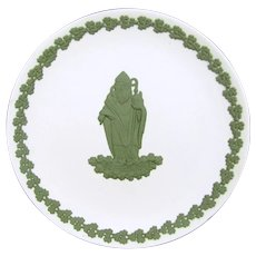 Vintage WEDGWOOD St. Patrick Plate Green on White