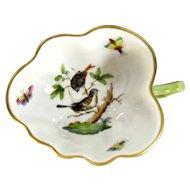 Vintage Herend ROTHSCHILD BIRD Leaf Nut Dish Floral #31