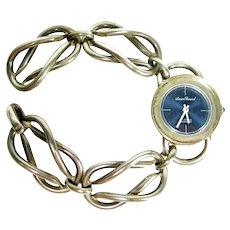 Vintage Lucien Piccard Sterling Silver Watch Wrist Mid Century Modern