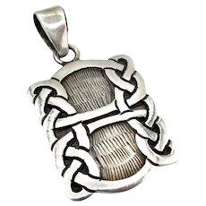 Vintage Celtic Knot Sterling Silver Pendant