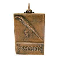 Vintage Track & Field ICAAAA Medal 1935 Intercollegiate Colleges & Universities