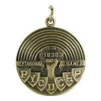 Vintage 1938 Heptagonal Games Medal Track & Field Universities and Colleges