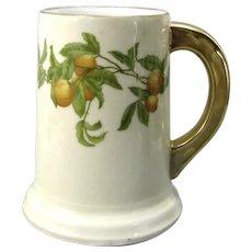 Rare T & V Limoges Greenleaf & Crosby Florida Oranges Tankard French Porcelain