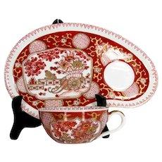 Fab GOLD IMARI Snack Set Arita Bussan Japanese Cup Plate Porcelain Goldimari