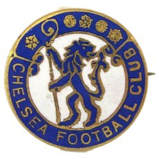 Rare CHELSEA FOOTBALL CLUB Pin Enamel Badge Thomas Fattorini Birmingham England