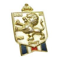 Vintage Accessocraft War Relief British Patriotic Pin Rampart Lion Brooch