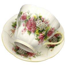 Royal Albert Apple Blossoms Cup & Saucer Gold Trim