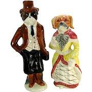 Fab Dressed Mr. & Mars. Boxer Dog Figurines Vintage Mark Roberts Collection Statue