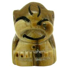 Billiken Carved Bone/Horn Figure Vintage Miniature
