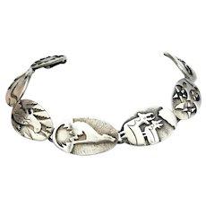 """HTF JAMES AVERY Southwestern Sterling Bracelet Silver 7 1/4"""""""