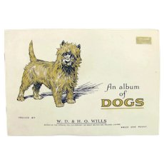 """1937 Wills """"An Album of Dogs"""" Tobacco Card Book Complete 50 Cigarette Dog Cards"""