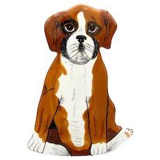 St. Bernard Dog Vase Figure Boxer Dogs by Nina Lyman Statue