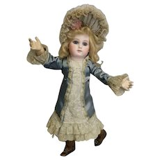 c.1878 17 Inch Antique Jumeau Bebe Portrait Second Series doll Orig 8 ball joint body