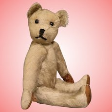 11 Inch Sweet Old Antique Teddy Bear Leather pads 1920s