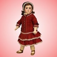 15 Inch Antique Jumeau French Bisque Doll c.1900 Beautiful Outfit Sweet Size