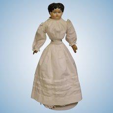 """18"""" Antique Paper Papier Mache Sonneberg Germany 1870s doll Antique cloth body"""