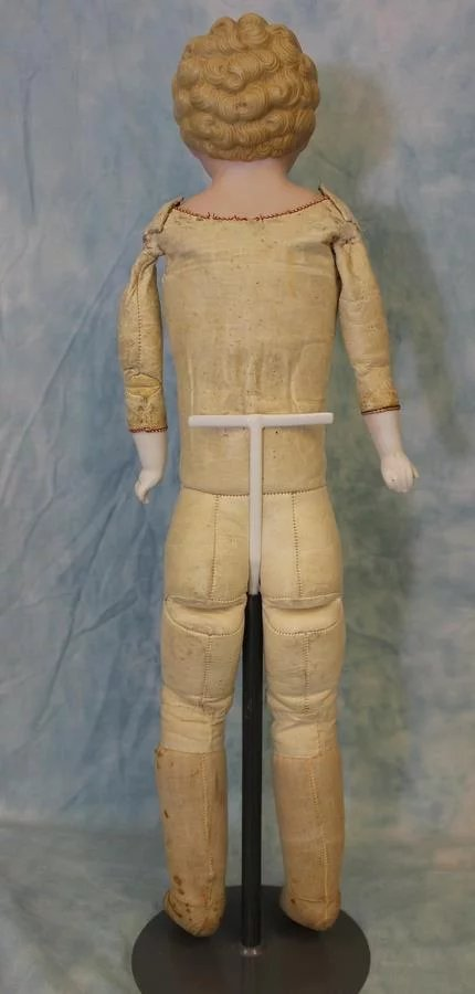 22 Inch Antique German Bisque Doll Marked 1214 8 Painted