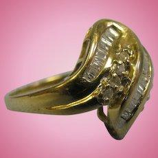 Beautiful and Elegant Ladies 42 Diamond Right Hand Ring Size 8 10K Yellow Gold