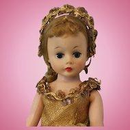 Pretty 10 inch Cissette Ballerina number 713 Gold Flecked Costume Tutu 1959 Original Coronet