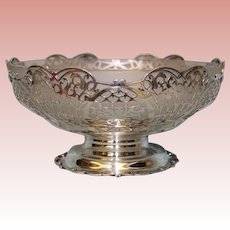 Sterling bowl with original Glass Liner from 1933 by Blackmore and Fletcher LTD
