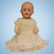 Antique 17 inch JDK Kestner Solid Dome Baby Jean Character Doll German Bisque c.1900