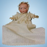 12 inch Antique Amberg Newborn Solid Dome Baby Doll Sleep Eyes circa 1914