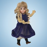 Antique 5.25 inch German Bisque Doll Swivel Head Marked  13  c.1900 Closed Mouth
