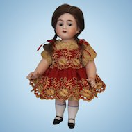 Antique 8.5 inch Large All Bisque 5934 German Bisque Doll Bargain Price.