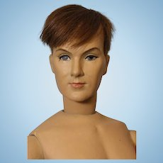 RARE 18 inch Dewees Cochran Latex Jefferson Jones Boy Doll at age 23 Grow up Series