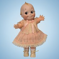 13 inch 1913 Antique German Bisque Kestner Kewpie Doll Glass Eyed Googly Composition Body.