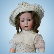 18 inch antique KW 1070 German bisque character doll Ball jtd slant hip toddler body