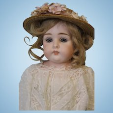 16 inch Antique German Bisque Kestner doll Blue eyes Open Closed Mouth W.Teeth
