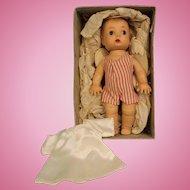 RARE 1952 9 inch Madame Alexander Angel/Cherub Doll w.Wings,Halo, Tags,Robe,Orig. Box