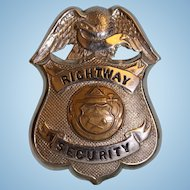 "Rightway Security badge 3-1/4"" X 2-1/4"""