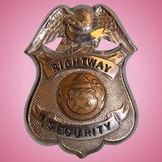 "Rightway Security badge 3-1/4"" X 2-1/4"""