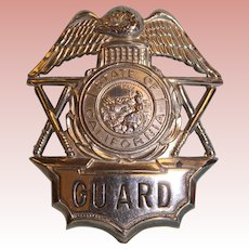 "State of California Guard badge 2-3/4"" X 2-1/4"""