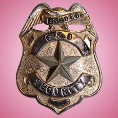 "Bonded C&D Security Badge 2-1/2"" X 2"""
