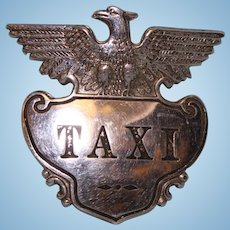 """Taxi Badge 2-3/4"""" by 2-3/4"""" with hat mount"""