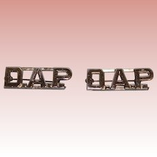 "D.A.P. Two Horizontal collar bars 1-1/2"" long 1/2"" tall"