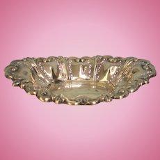 Antique Birmingham Sterling Silver Oval Pierced Dish 8.54 ozt 1902