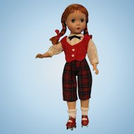 "14 inch Madame Alexander Hard Plastic Maggie Face ""Kathy"" Roller skater Red Hair"