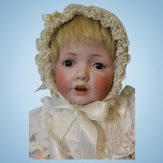 Antique 16 inch German Bisque JDK 237 Hilda Character Baby Doll by Kestner c.1915