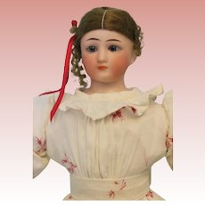 Antique 13 inch Simon and Halbig Little Woman doll 1160 nice antique dress with original wig