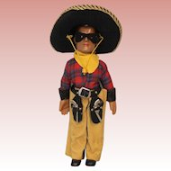 """15 inch American Composition Doll by Dollcraft """"The Lone Ranger"""" All Original! c1937"""