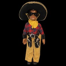 "15 inch American Composition Doll by Dollcraft ""The Lone Ranger"" All Original! c1937"