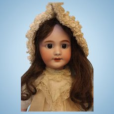 23 inch DEP Marked Tete Jumeau French Bisque doll O/M with teeth No Damage